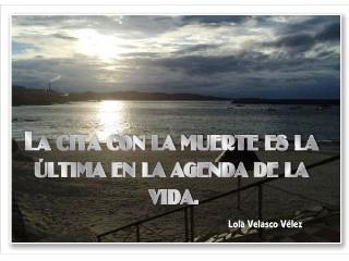 La última cita   Lola Velasco V.